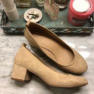 Chunky heel slip-on's
